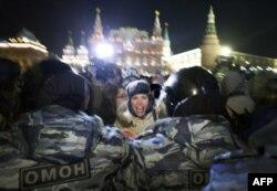 Акция протеста в Москве после приговора Навальным