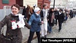 Мәскеуде Қызыл алаңда болған митинг. Ресей, 1 сәуір 2012 жыл.