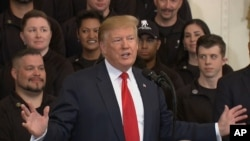 United States - President Donald Trump speaking about Mueller report at White House on April 18 - screen grab