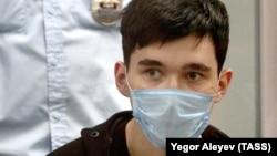 Ilnaz Galyaviyev attends a court hearing in Kazan on May 12.