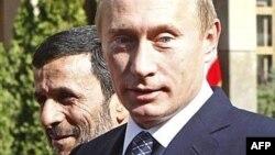 Эрон Президенти Маҳмуд Аҳмадийнажот ва Россия Президенти Владимир Путин.