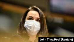 سویتلانا تیخانوفسکایا رهبر مخالف رژیم بلاروس