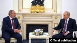 Russia - Russian President Vladimir Putin meets with Armenian Prime Minister Nikol Pashinian, Moscow, July 7, 2021.