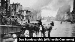 Харьков. Оккупированная фашистами площадь Розы Люксембург, 11 ноября 1941