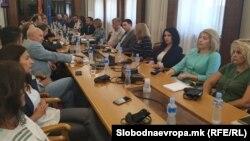 Седница на Комисијата за именување за разрешување на Катица Јанева