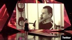 Мария Алехина на акции в поддержку Олега Сенцова