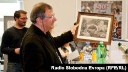 Omer Karabeg na obilježavanju 20. godišnjice emitovanja Mosta, Prag, 24. april 2014.