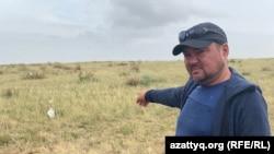 Экологический активист Шасалим Шагалимов. Село Аршалы Акмолинской области, 10 августа 2020 года.