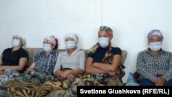 Участницы голодовки в Астане. 6 августа 2014 года.