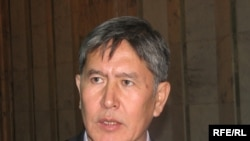 Opposition candidate Almazbek Atambaev (pictured) hopes to prevent Kurmanbek Bakiev from further consolidating power.