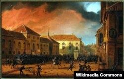 """Марцин Залеский. """"Взятие варшавского арсенала во время польского восстания 1830 года"""" (1831)"""