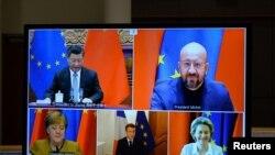 Во время переговоров между ЕС и Китаем по инвестиционному соглашению. Архивное фото