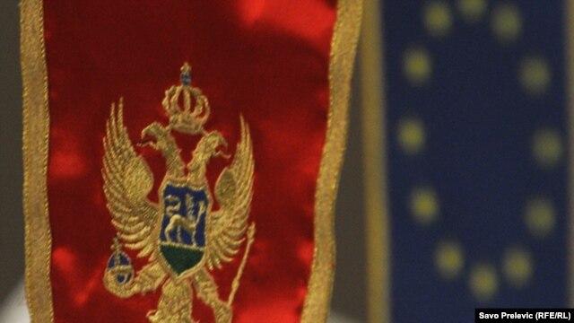 zastava Crne Gore i Evropske unije