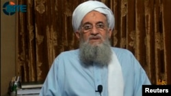 "In the audio message, Al-Qaeda leader Ayman al-Zawahri vows that Al-Qaeda will help the Taliban in its struggle to establish a ""caliphate."" (file photo)"