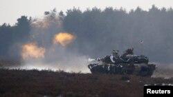 Американський танк «Абрамс» на навчаннях у Польщі