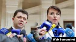 Виктор Осипов и Нинa Штански
