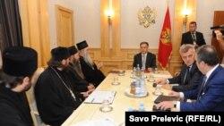 Filip Vujanović prilikom susreta sa predstavnicima Crkve