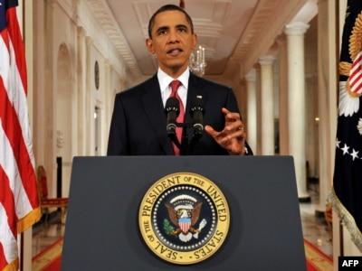 Američki predsjednik Barack Obama govori u jednom od rijetkih prime-time obraćanju naciji, Washington, DC, 25. jul 2011.