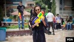 Водный фестиваль в Тегеране.