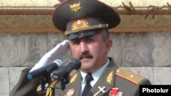 General Movses Hakobian, defense minister of the self-proclaimed Nagorno-Karabakh Republic.
