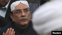 Pakistan President Asif Ali Zardari remains in a Dubai hospital for observation.