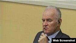 Ratko Mladić u sudnici 15. svibnja 2013.