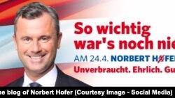 (Foto: afiș electoral, blogul lui Norbert Hofer)