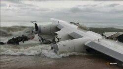У берегов Кот-д'Ивуара потерпел крушение грузовой самолет «Антонов» (видео)