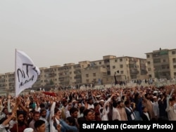 FILE: A PTM rally in the southern city of Karachi in January.