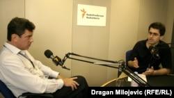 Boris Nemcov (L) za vreme intervjua sa Draganom Štavljaninom 11. juni 2007.