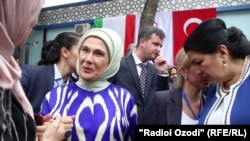 Tajikistan -- Wife of the President of Turkey opened in Dushanbe the Center for Rehabilitation of Disabled People, 15Jun2019