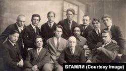 """Литературное объединение """"Узвышша"""". Минск, 1928 год"""