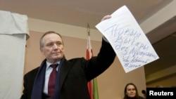 Владимир Некляев в день выборов, 19 декабря