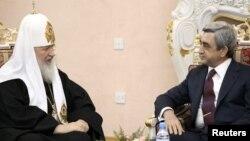 Встреча президента Армении Сержа Саргсяна п Патриарха Московского и Всея Руси Кирилла, Ереван, 17 марта 2010 г.