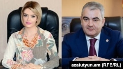 Armenia -- Arman Sahakian, Head of State Property Management Department, and his wife Seda Hahobian.