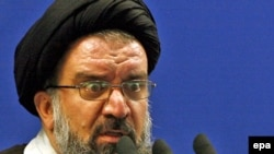 Ayatollah Ahmad Khatami speaking at Friday Prayers