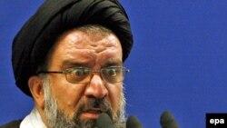 Ayatollah Ahmad Khatami speaking at Friday Prayers