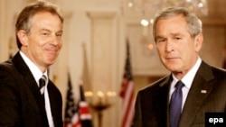 Ish-presidenti i SHBA-së, George W. Bush, dhe ish-kryeministri britanik, Tony Blair - foto arkivi