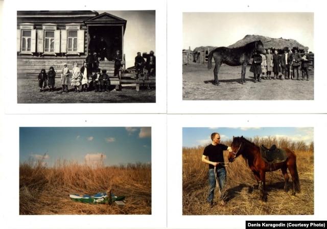 Дом в Волково (1902) и те же места в 2013 году.