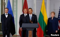 Barack Obama şi liderii ţărilor baltice la Tallinn, 3 septembrie 2014