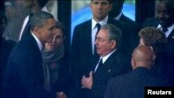 Барак Абама і Рауль Кастра