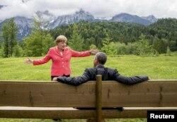 Angela Merkel i Barack Obama tokom summita G7 u Njemačkoj 8. juna 2015.