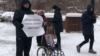 Красноярск: полиция задержала на пикете отца умершего от СМА ребенка