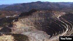 Resturile unei mine de aur la Roșia Montana