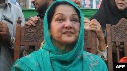 بیگم کلثوم نواز، همسر نواز شریف صدراعظم برکنار شده پاکستان