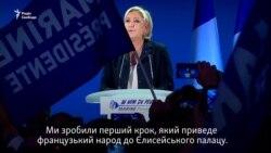 Макрон та Ле Пен святкують після першого туру виборів у Франції (відео)