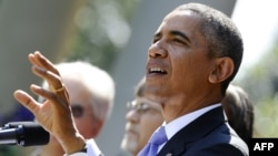 ԱՄՆ - Նախագահ Բարաք Օբաման բյուջեի հարցում առաջացած ճգնաժամի վերաբերյալ ելույթ է ունենում Սպիտակ տան այգում, Վաշինգտոն, 1-ը հոկտեմբերի, 2013թ․