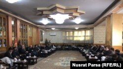 کابل کې د محقق په کور کې د یو شمېر سیاستوالو غونډه. Jan.25.2020