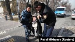 Задержание. Алматы, 22 февраля 2020 года.
