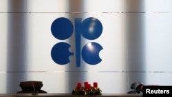 The logo of the Organization of the Petroleum Exporting Countries (OPEC) is seen inside their headquarters in Vienna, Austria December 7, 2018.